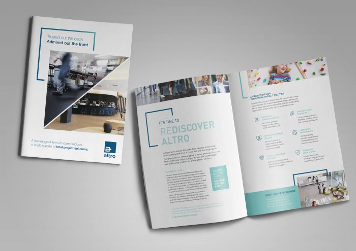 Marketing campaign new product launch brochure