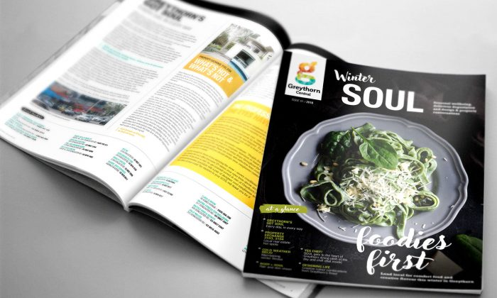Marketing and Graphic Design magazines and brochures for Greythorn Central
