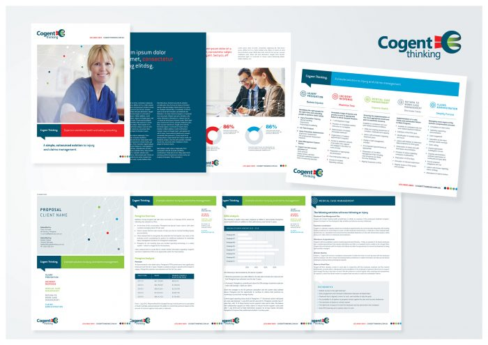 graphic design agency melbourne branding cogent brochure