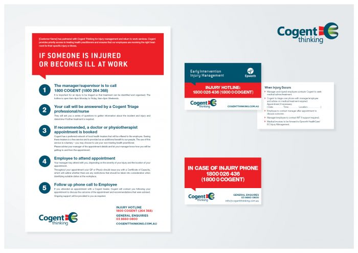 graphic design agency melbourne cogent stationery branding