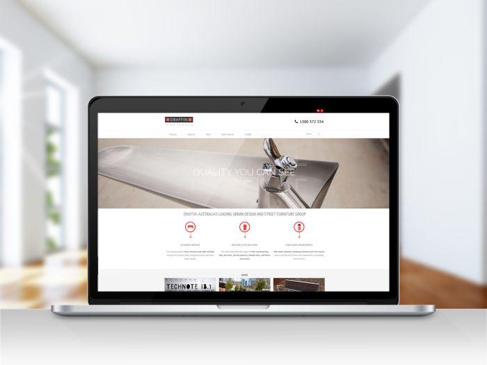 Draffin Wordpress website home page