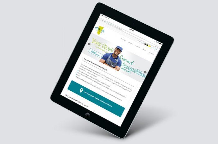 AtWork Australia website on tablet