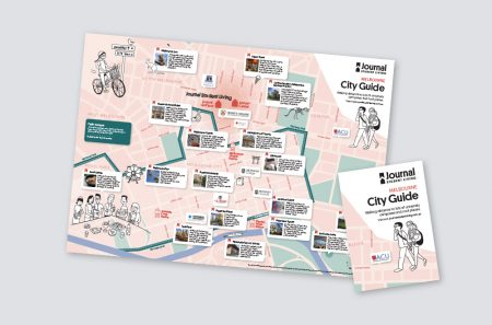 Melbourne city map for Journal Student Living