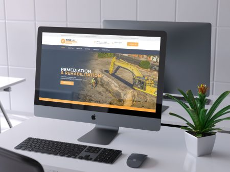 Grange Environmental Services website on computer monitor