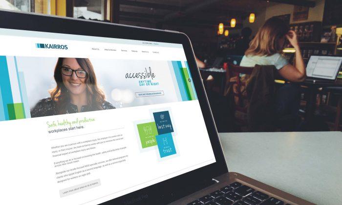 Kairros website on laptop screen