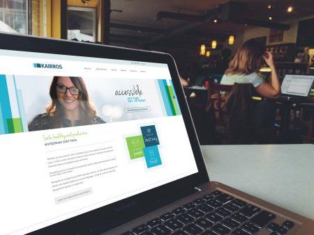 Kairros website on laptop Melbourne developed by MOO digital marketing agency